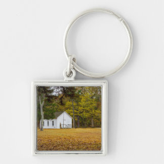 Storys Creek School Silver-Colored Square Keychain