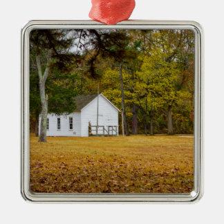 Storys Creek School Silver-Colored Square Ornament