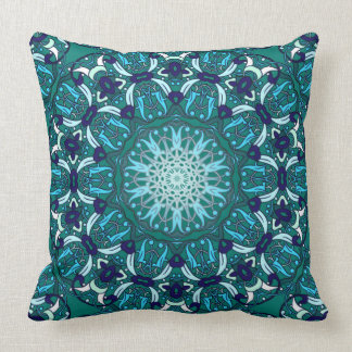 Storyteller (lush meadow green) throw pillow