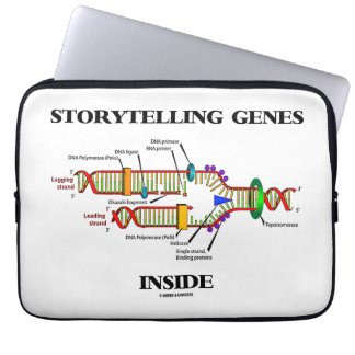 Storytelling Genes Inside (DNA Replication) Laptop Sleeve