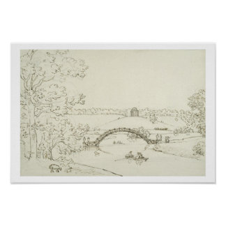 Stourhead, c.1780s (pen and ink on paper) print