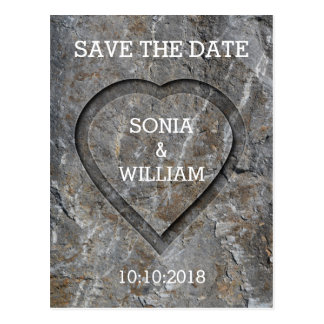 Stove Carved Heart Save The Date Postcard