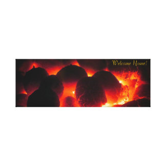 Stove Fire wrapped canvas Gallery Wrapped Canvas