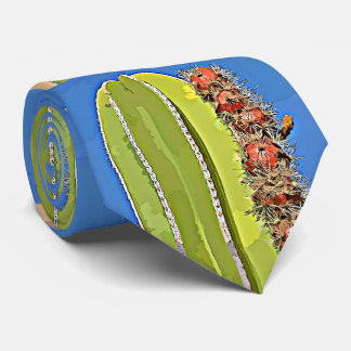 Stove Pipe Cactus in Bloom Men's Tie