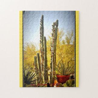 Stove Pipe Cactus in Bloom Puzzle