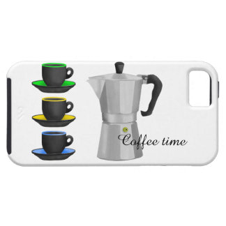 Stove Top Espresso Make And Cups Pattern Case For The iPhone 5