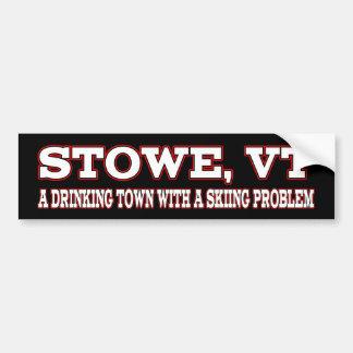 Stowe Skiing Problem Bumper Sticker