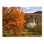 Stowe Vermont in Autumn Postcard
