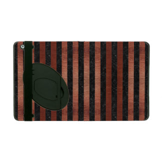 STR1 BK MARBLE COPPER iPad CASES