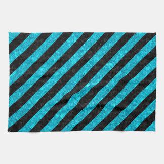STR3 BK-TQ MARBLE TOWEL