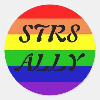 STR8 ALLY ROUND STICKER