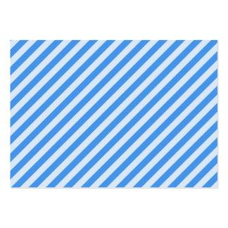 [STR-BLU-01] Blue candy cane striped Business Card Template