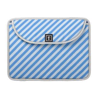 [STR-BLU-01] Blue candy cane striped MacBook Pro Sleeve