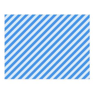 [STR-BLU-01] Blue candy cane striped Postcard