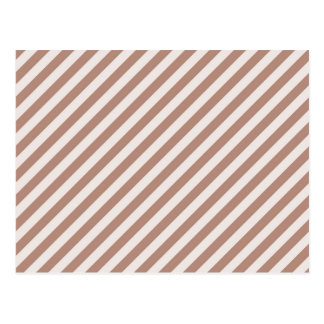 [STR-BRO-1] Brown and white striped Postcard