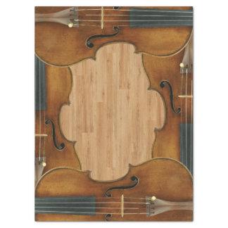 Stradivari Violin Quartet on Wood Panel Effect Tissue Paper