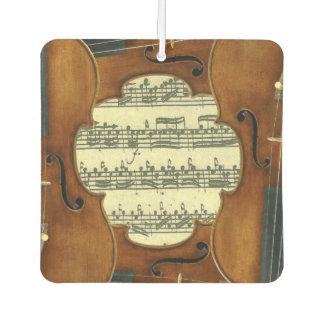 Stradivari Violins Bach Partita Music Manuscript Air Freshener