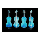 stradivarius violins and bow blue poster FROM 8.99