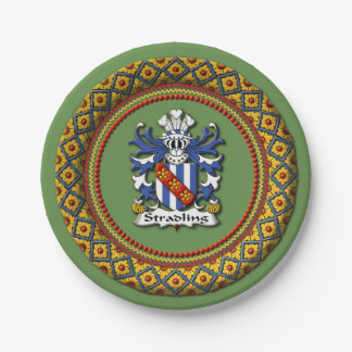 Stradling Crest Paper Plates 7 Inch Paper Plate