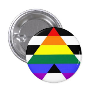 Straight Ally Flag Button