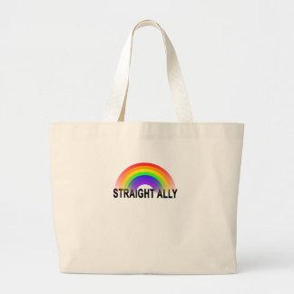 Straight Ally LBGT Large Tote Bag