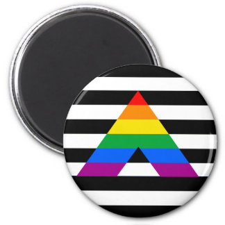 Straight Ally Pride 2 Inch Round Magnet