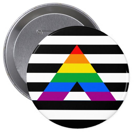 Straight Ally Pride Buttons