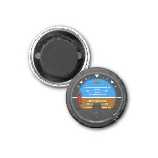 Straight and Level 1 Inch Round Magnet