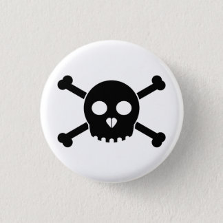 Straight Black Deth's Head Button