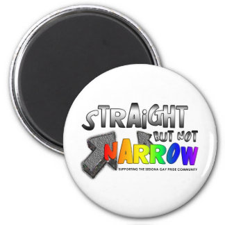 Straight but not Narrow 2 Inch Round Magnet