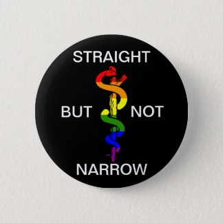Straight But Not Narrow Rainbow Health Coalition 2 Inch Round Button