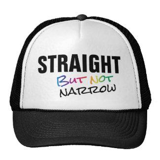Straight But Not Narrow Rainbow LGBT Ally Trucker Hat