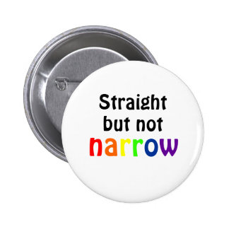 Straight but not narrow (white)) 2 inch round button