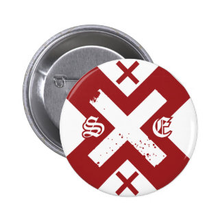 Straight Edge (G) 2 Inch Round Button