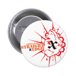 Straight Edge (H) 2 Inch Round Button