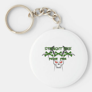 Straight Edge Poison Free Keychain