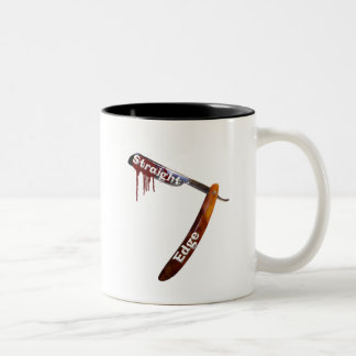 Straight Edge Straight Razor Two-Tone Coffee Mug