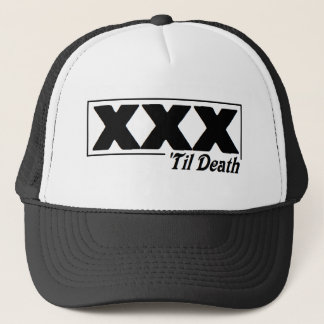 straight edge XXX 'til Death logo cap