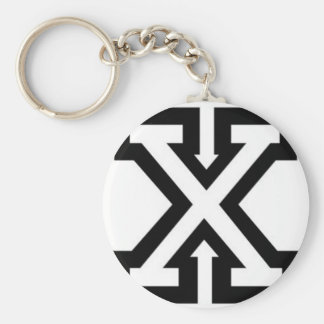 straight-edge-xxx-wp basic round button keychain