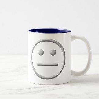 Straight Faced Two-Tone Coffee Mug