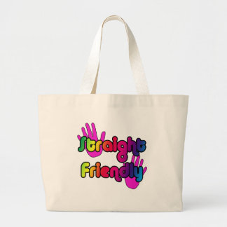 Straight Friendly! Large Tote Bag
