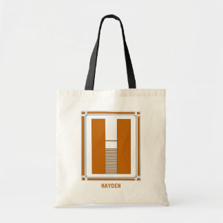 Straight lines art deco with monogram, letter H