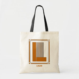 Straight lines art deco with monogram, letter L