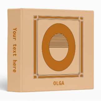 Straight lines art deco with monogram, letter O 3 Ring Binders