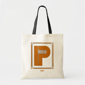 Straight lines art deco with monogram, letter P