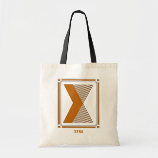Straight lines art deco with monogram, letter X