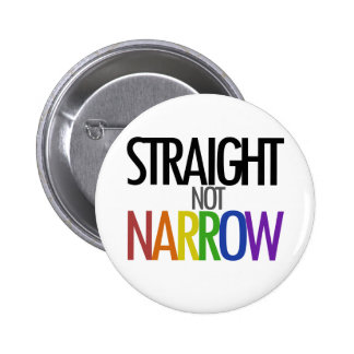 Straight not Narrow 2 Inch Round Button