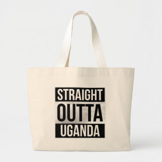 Straight out of Uganda T-shirts Large Tote Bag