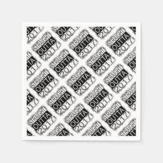 Straight outta 2017 paper napkins