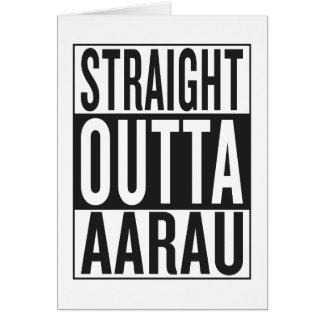straight outta Aarau Card